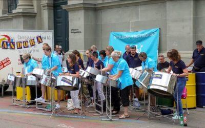 Tag der Musik  Bahnhofplatz Bern 21.6.2018 zusammen mit Steelband Pandora