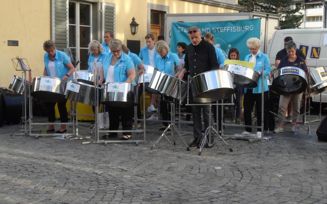 Waisenhausplatz Thun 14.6.2018 zusammen mit Steelband Pandora